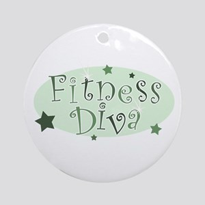 """Fitness Diva"" [green] Ornament (Round)"
